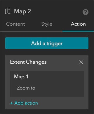 Map 2 Action settings