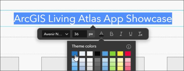 Edit toolbar