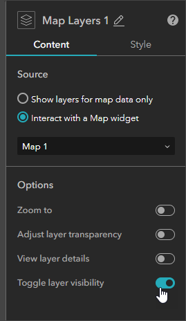 Toggle layer visibility
