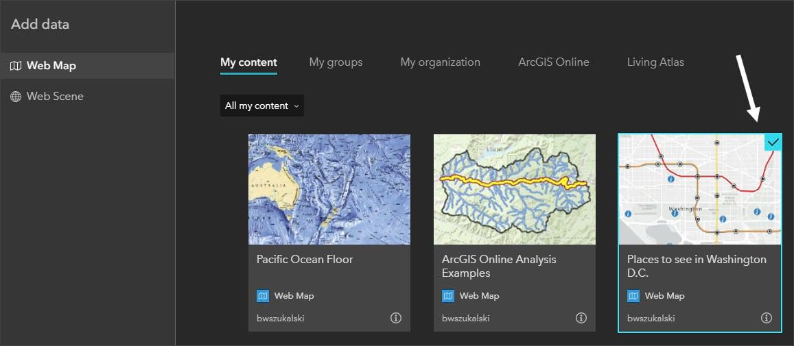Add web map