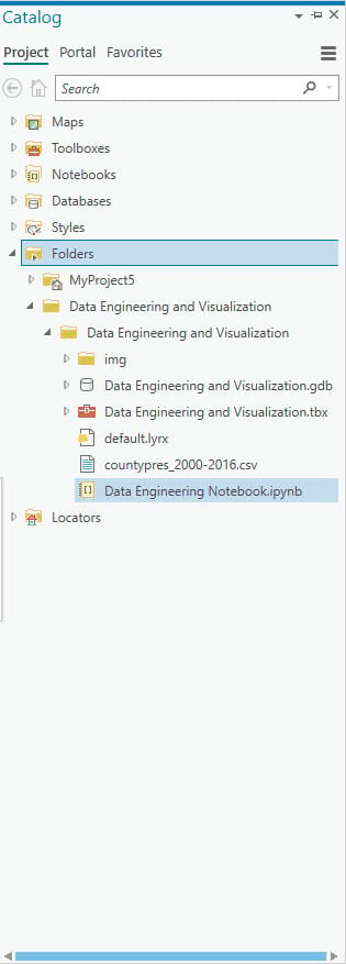 Adding an existing notebook to ArcGIS Pro 2.5