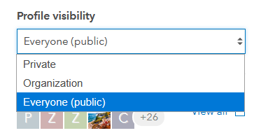 Change the profile visibility from My Profile page