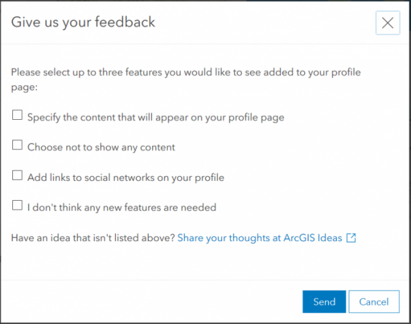 Share your feedback what else you want to be able to display on your new profile page