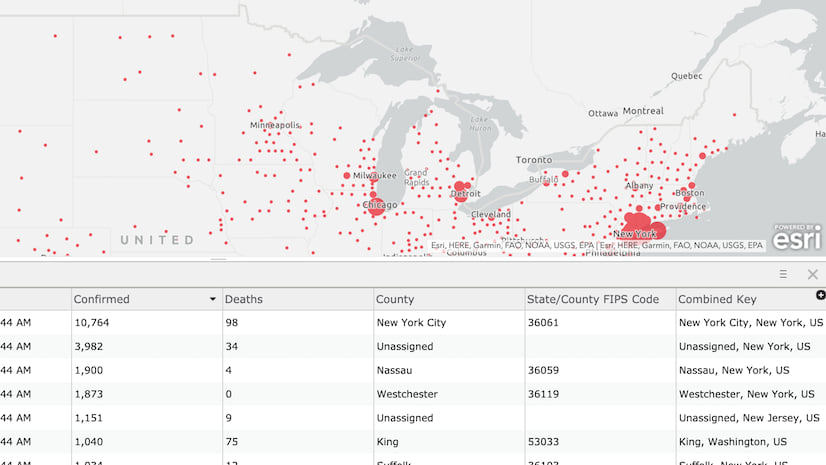 How To Map New York Times Coronavirus Time Series Data In Arcgis Pro
