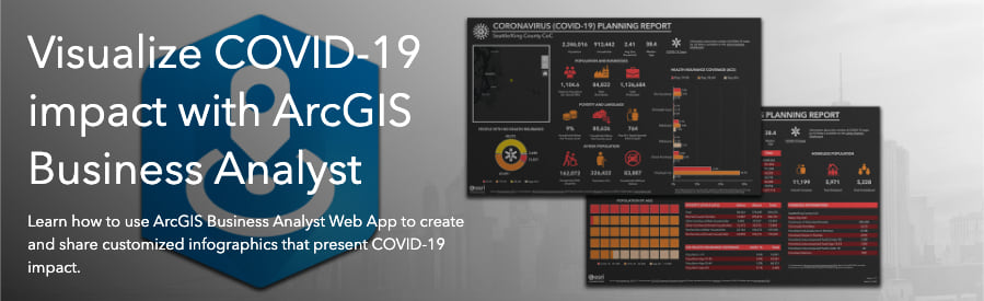 Visualize COVID-19 impact with ArcGIS Business Analyst