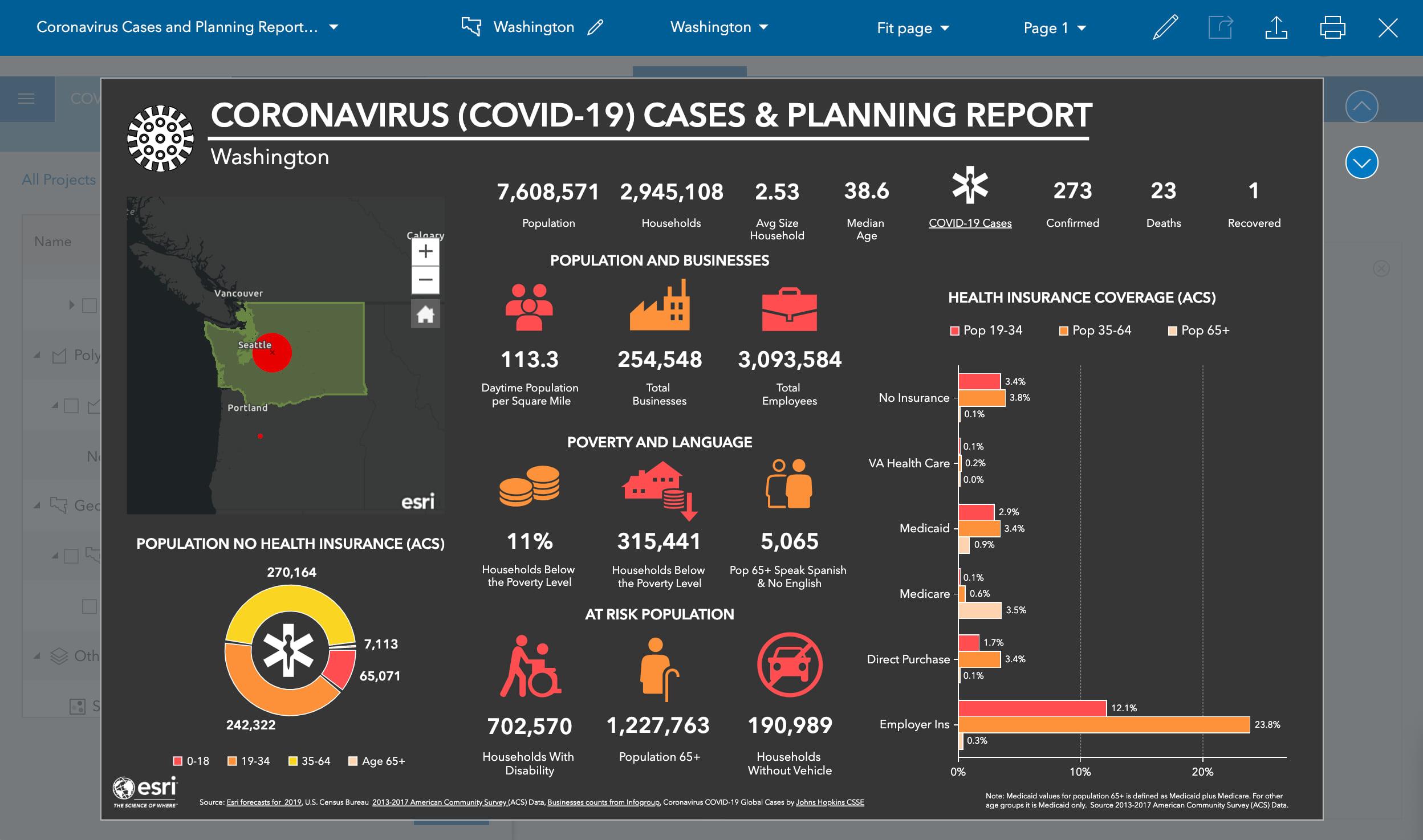 Create State-wide Coronavirus (COVID-19) Infographic