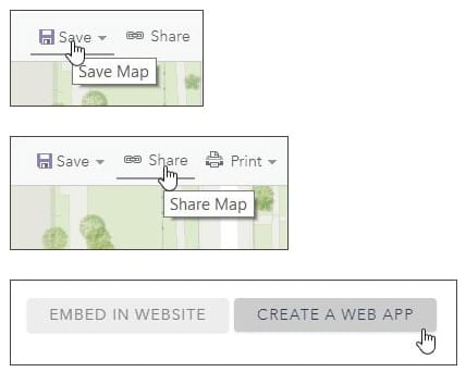 Save, share, create web app