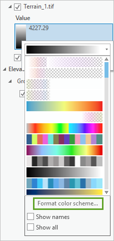 Format color scheme command on the color scheme picker control