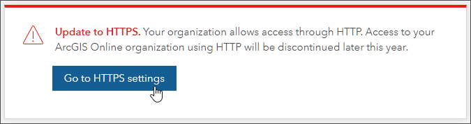HTTPS warning message