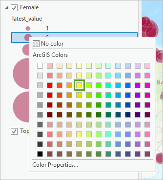 Solar yellow in the color picker is the third yellow from the top
