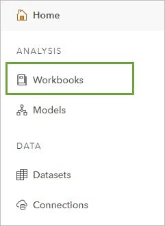 The Workbooks tab on the Insights home page