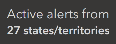 Indicator showing count of active alerts by state.
