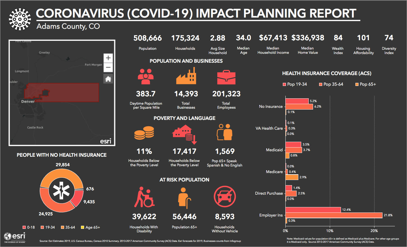 Adams County Coronavirus Infographic