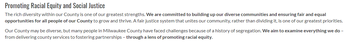 Milwaukee County Statement Promoting Racial Equity and Justice