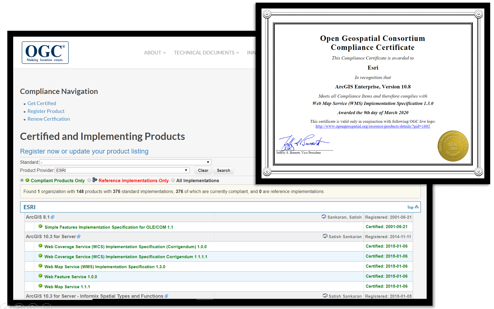 OGC Certificates for ArcGIS