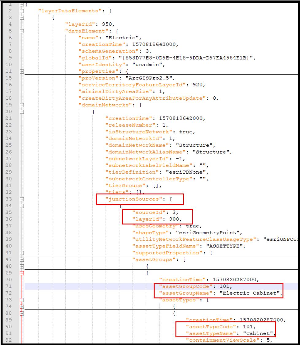 Query Data Elements JSON response
