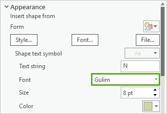 Font set to Gulim for the N symbol layer