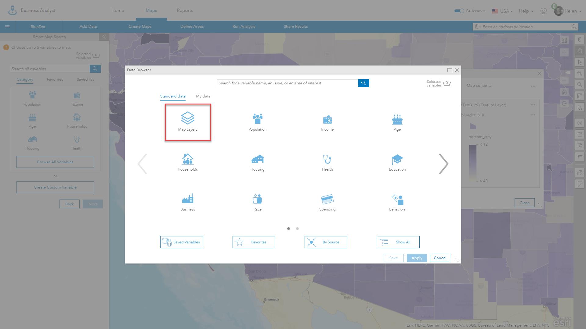 Run Smart Map Search