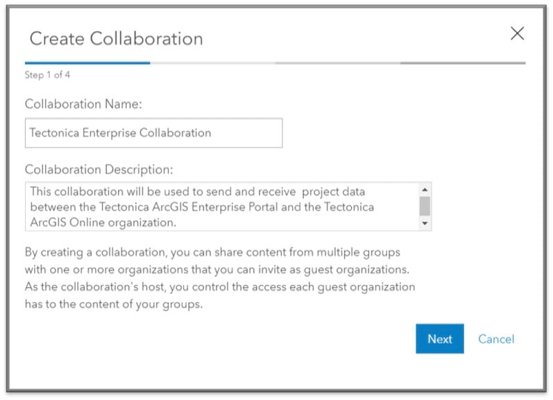 Name your collaboration and give it a useful description.