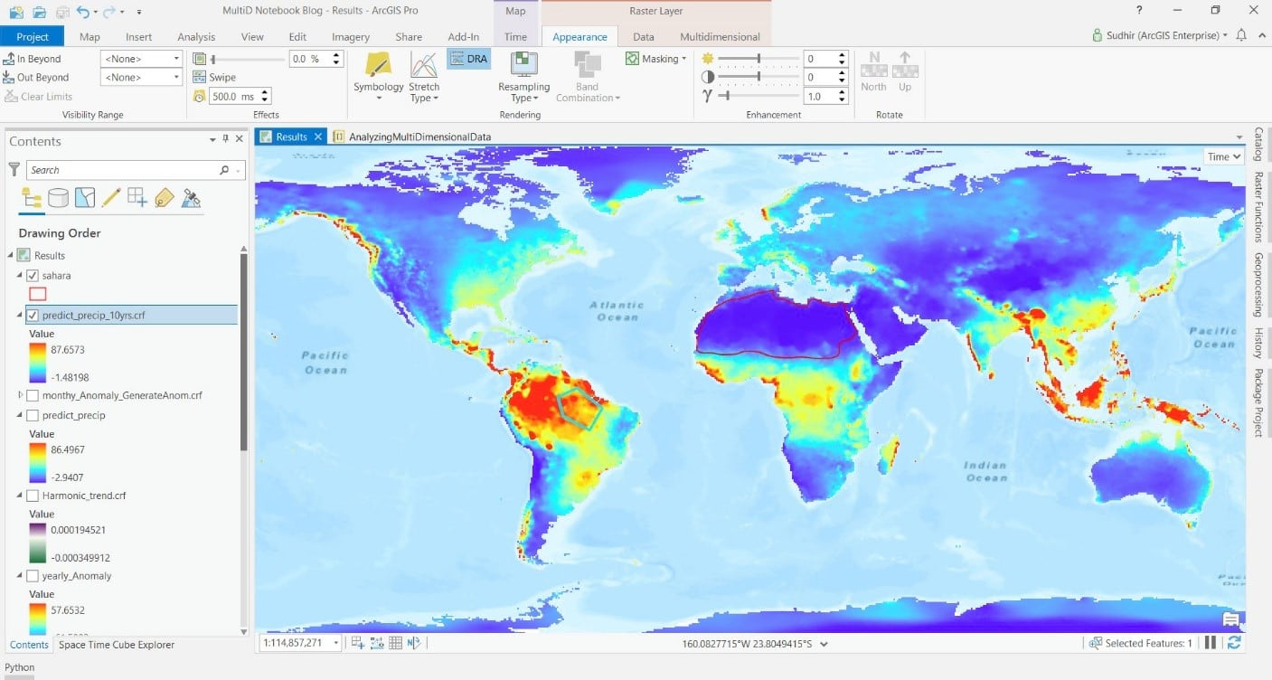 Global precipitation prediction