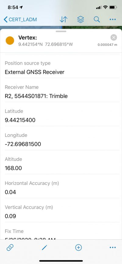 Spatial unit GPS Metadata
