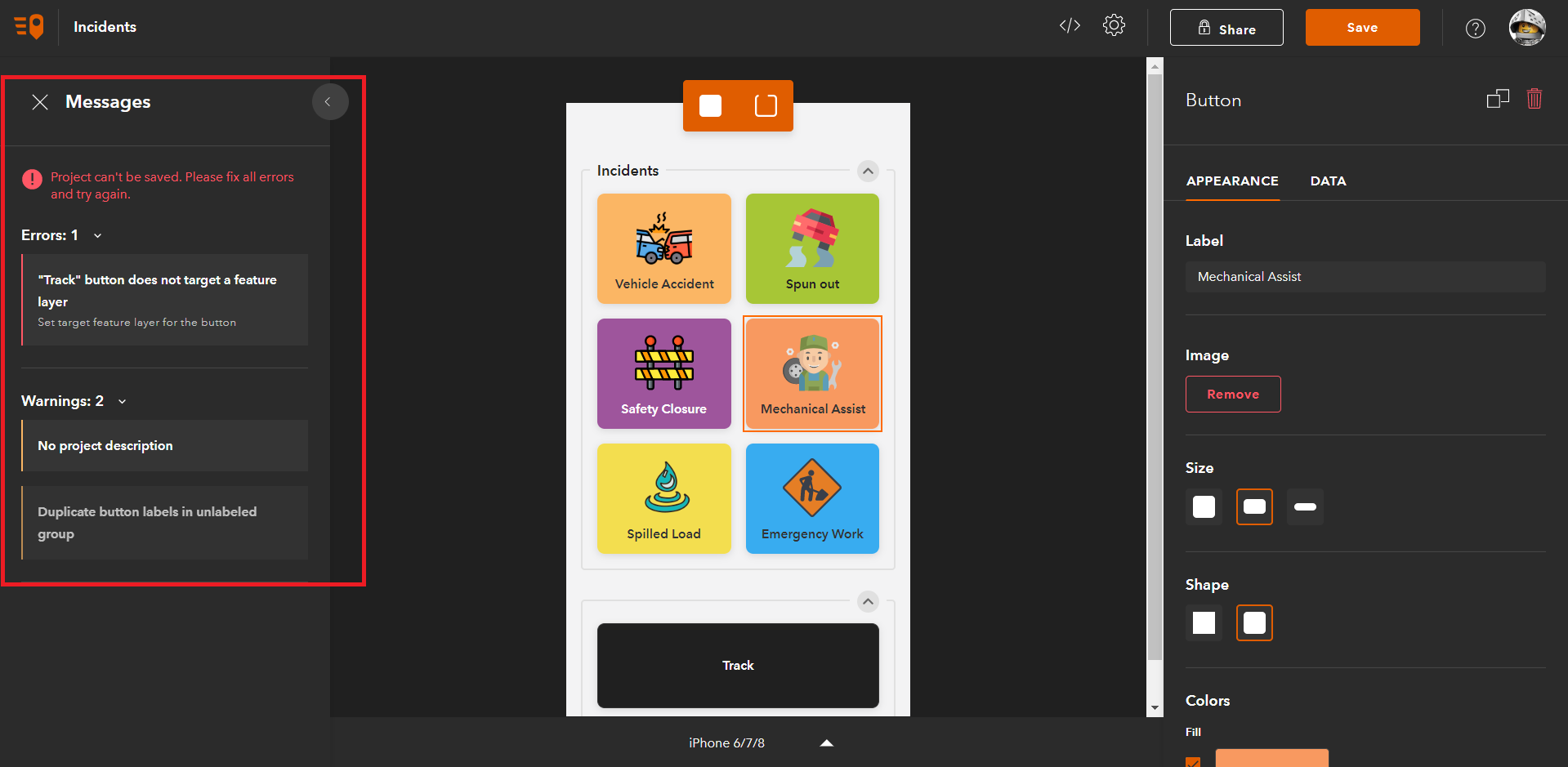 The QuickCapture Project Assistant will highlight issues in your project