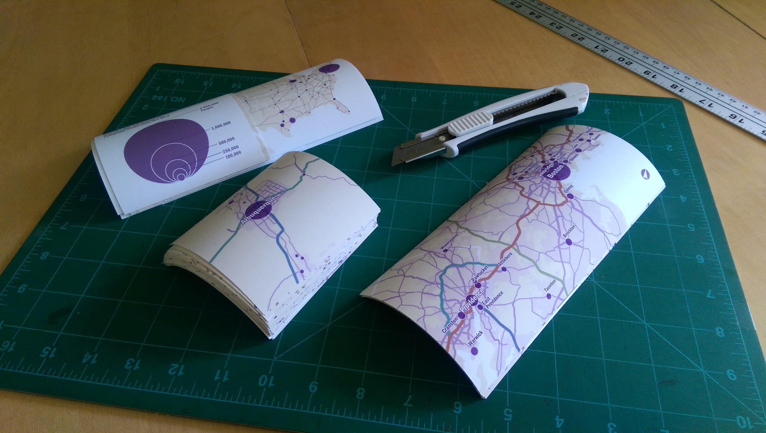 Trim the paper atlas pages