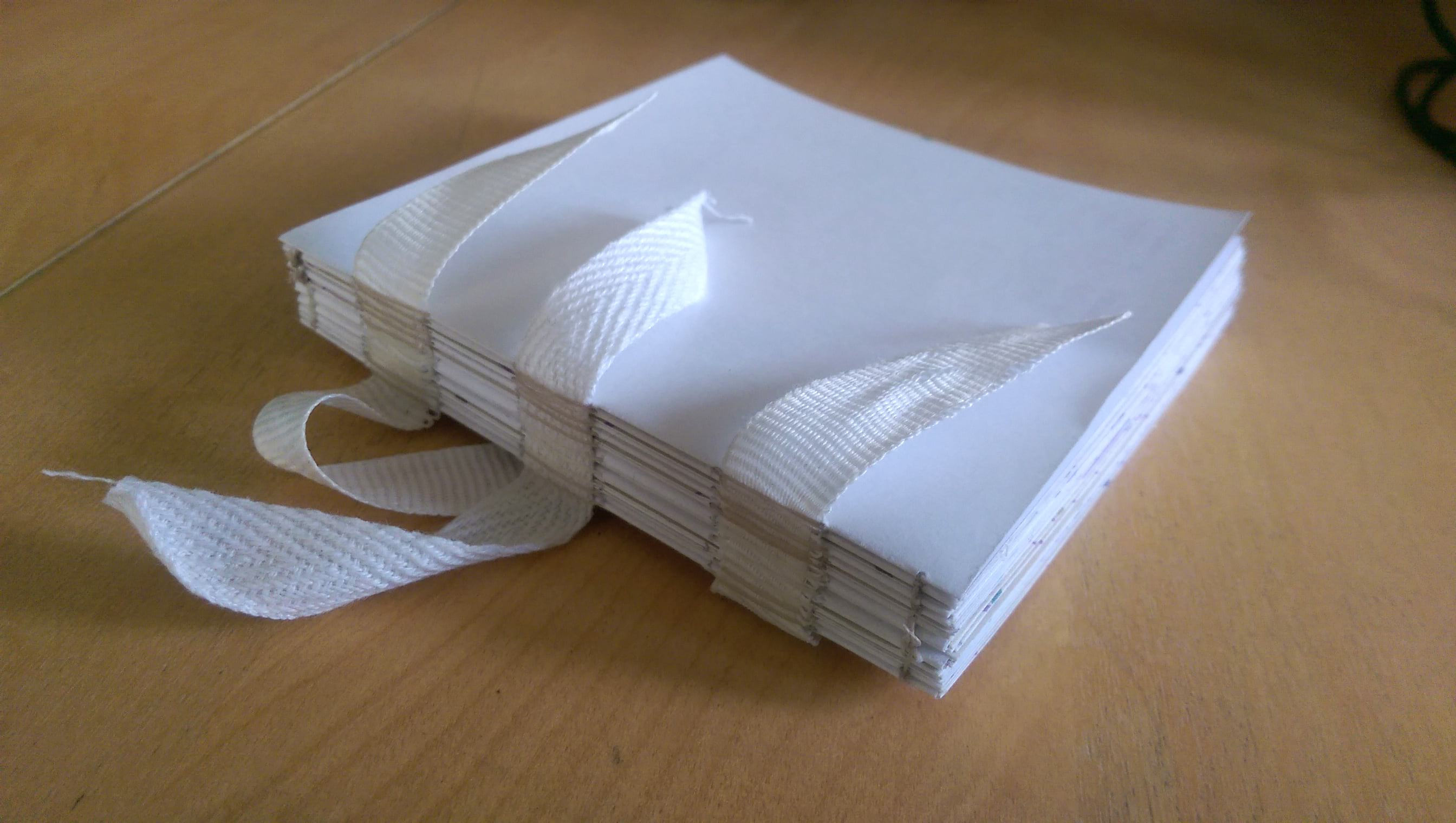 The atlas pages all sewn together