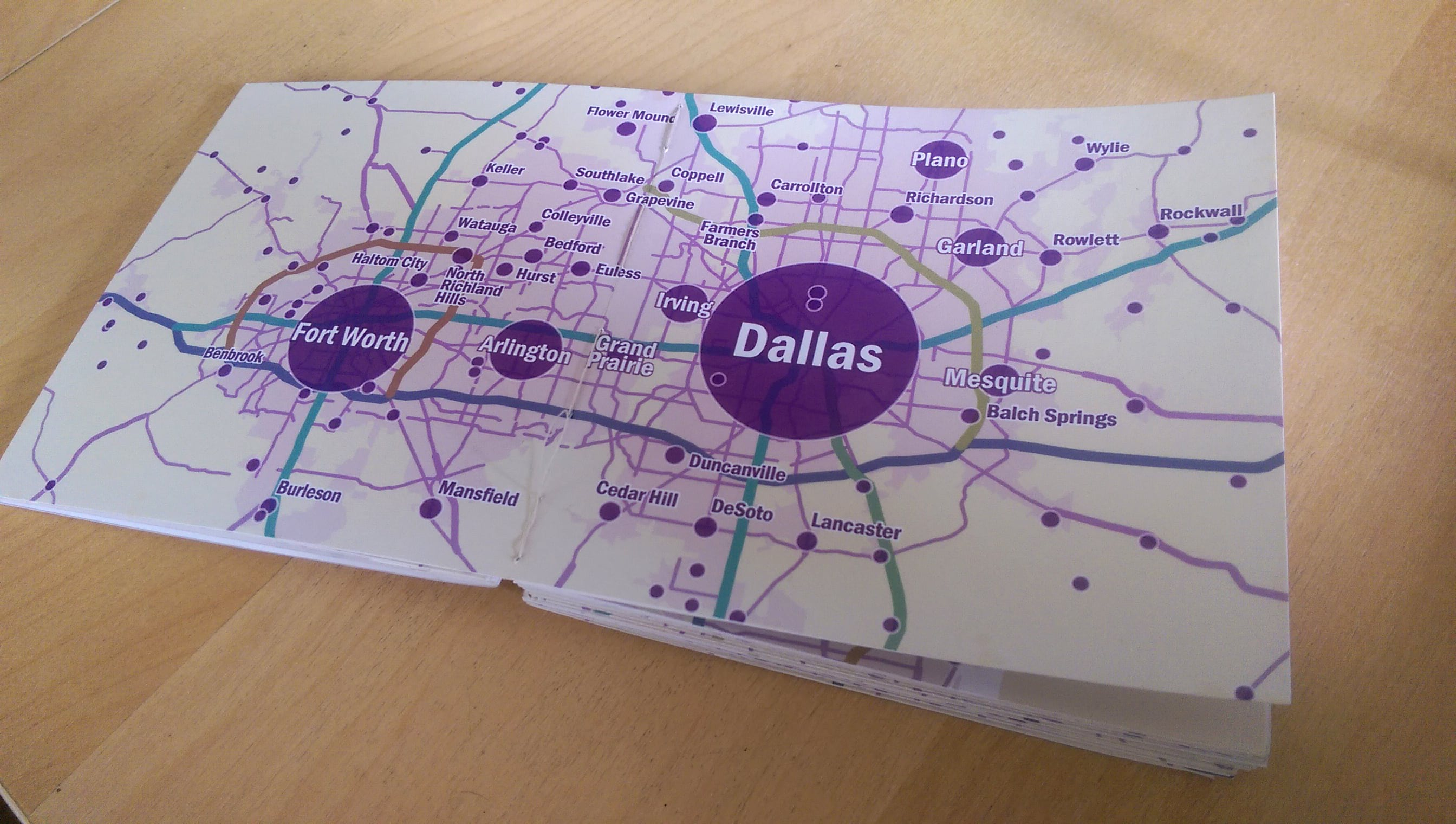 Little atlas arcgis pro bookbinding double page spread of dallas fort worth mightylinksfo