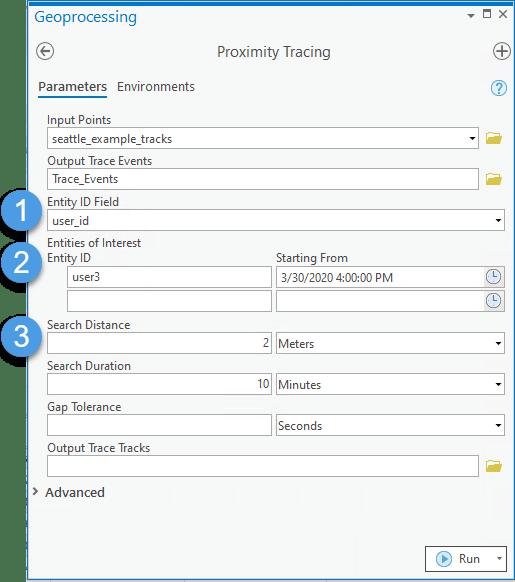 Proximity Tracing Parameters