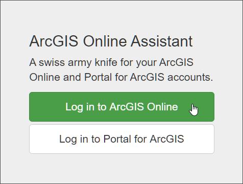 ArcGIS Online Assistant