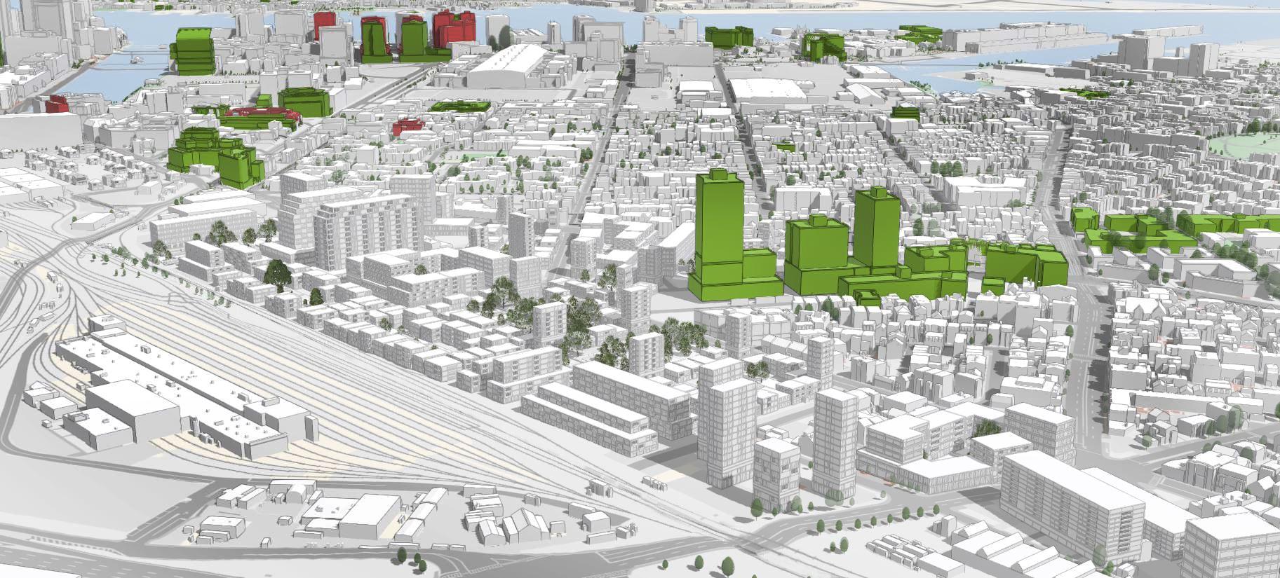 Fig. 21: Scenario 1 masterplan in ArcGIS Urban