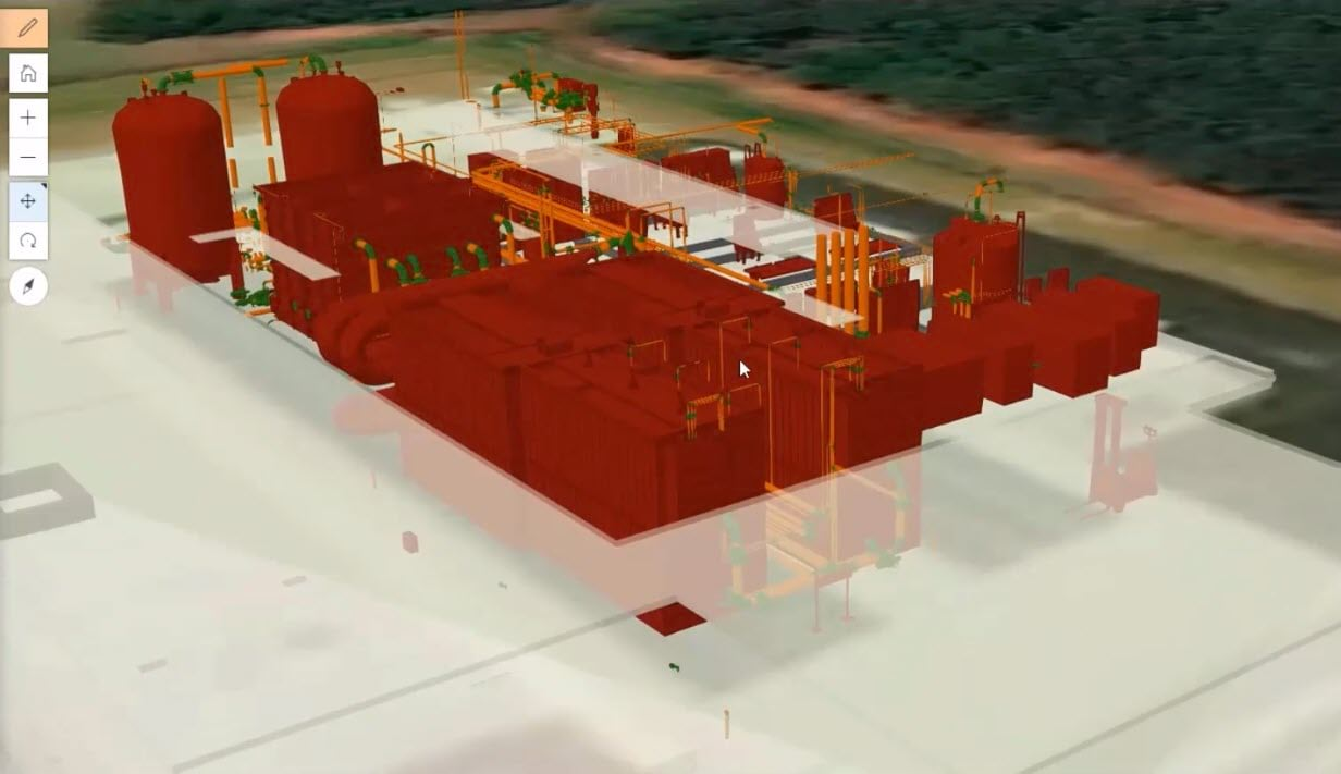Water Treatment Facility visualized in 3D, Solutions, Field Workflows