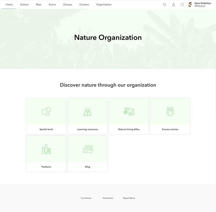 Nature Organization example