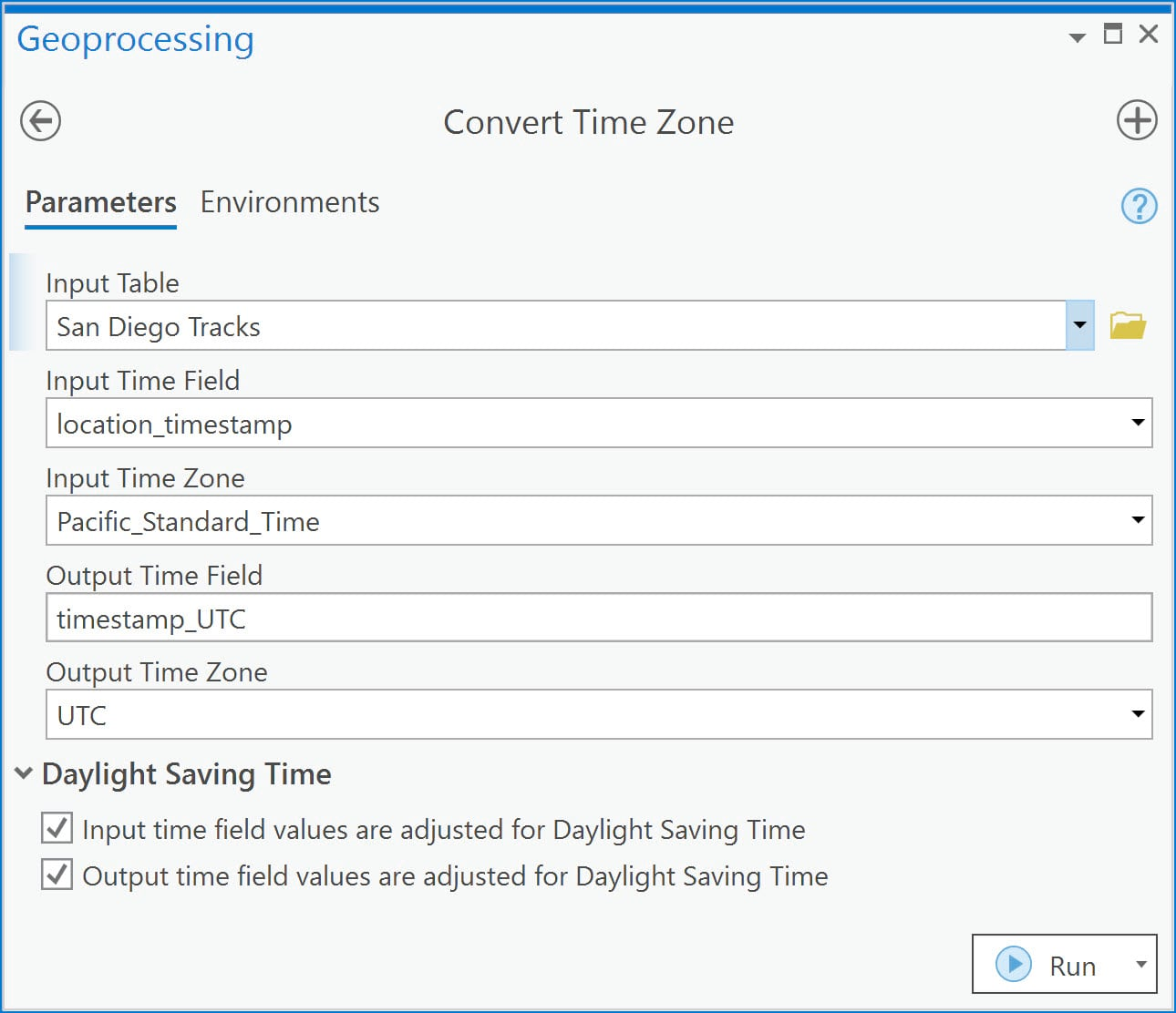 Convert Time Zone tool