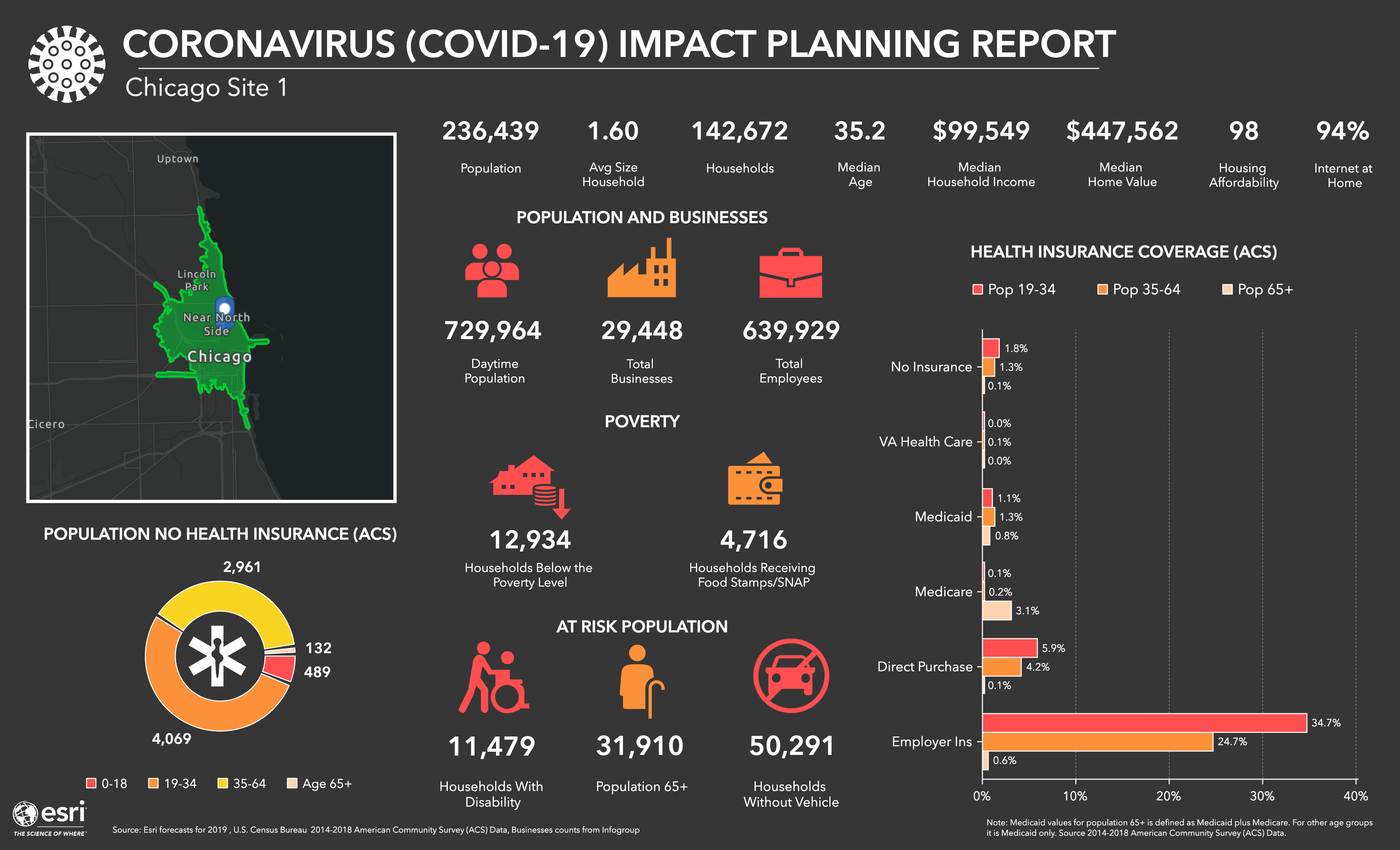 Coronavirus Impact Planning Report - Infographic Template