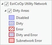 ArcGIS Utility Network Dirty Areas sublayer