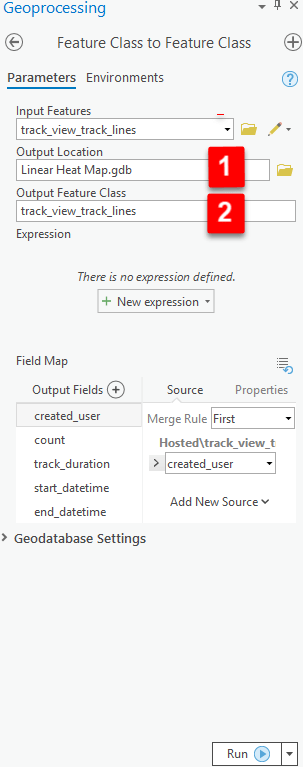 Export features configuration