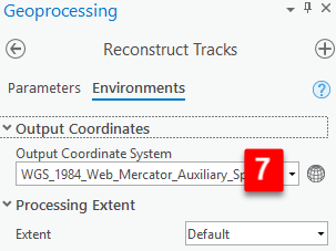 Reconstruct tracks environment