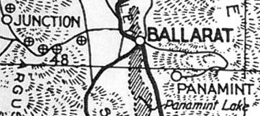 detail of auto-club map