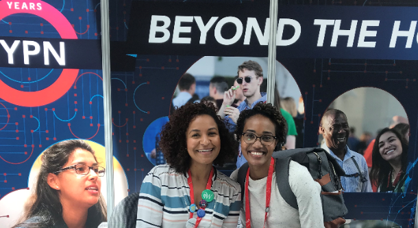 Photo of YPN Booth in the Expo at 2019 UC