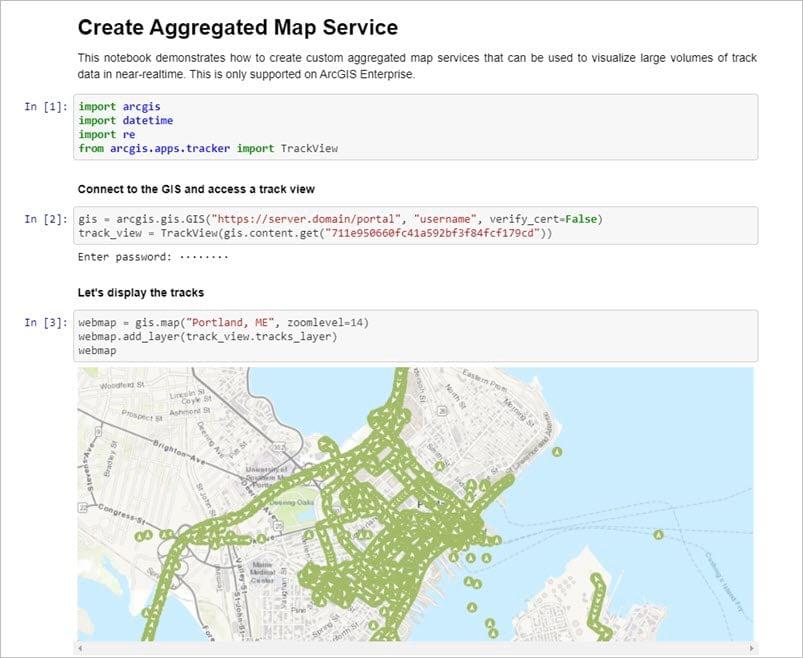 Create Aggregate Map Service notebook