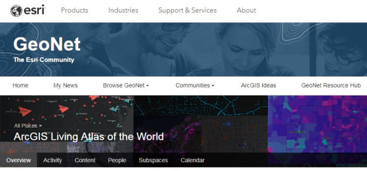 GeoNet Product Page: Living Atlas of the World