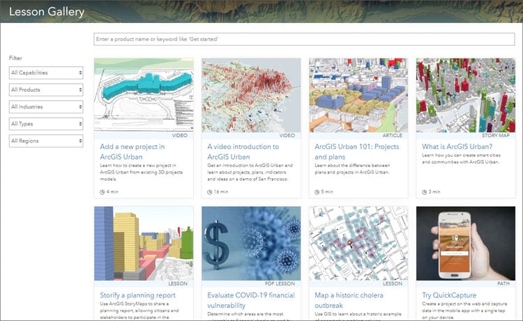 Learn ArcGIS Gallery