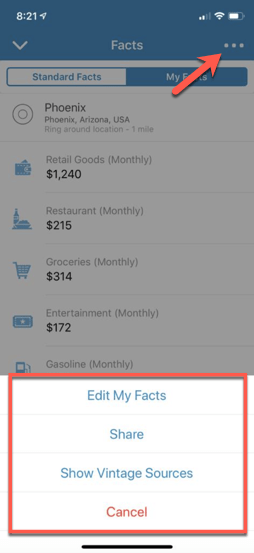 My Facts Options