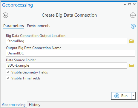 Create big data connection tool