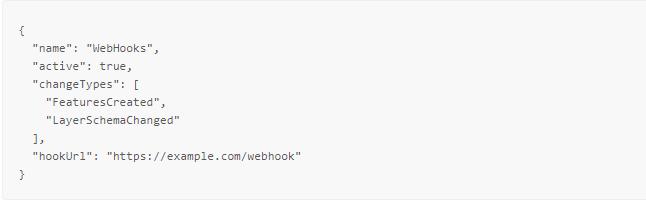 Webhook create request