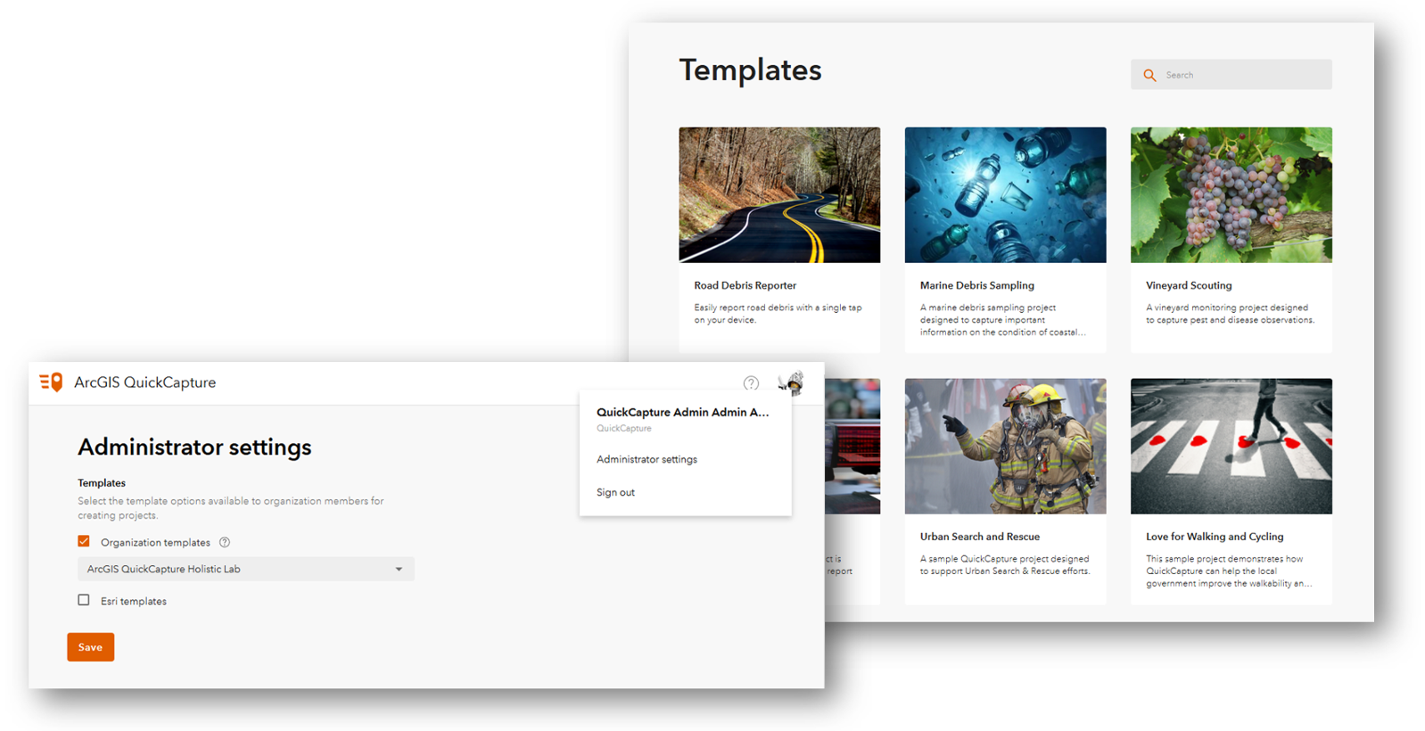 QuickCapture Template Gallery