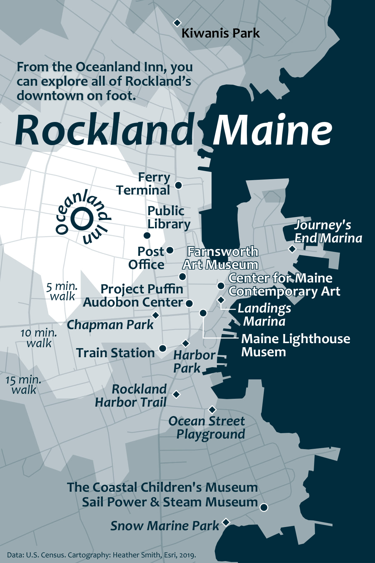 Final map of Rockland, Maine