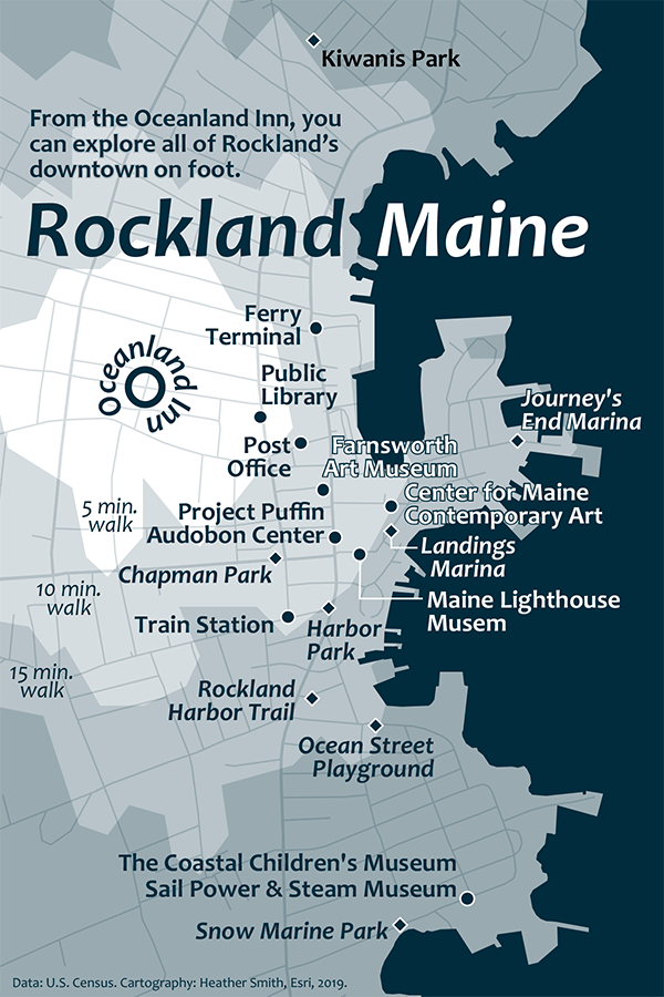 Map of Rockland, Maine